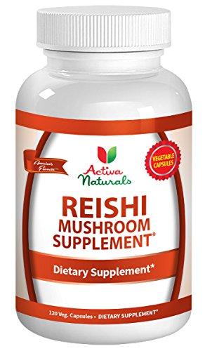 Activa Naturals Reishi Mushroom Supplement - 120 Veg. Capsules with Ganoderma Lucidum Mushrooms