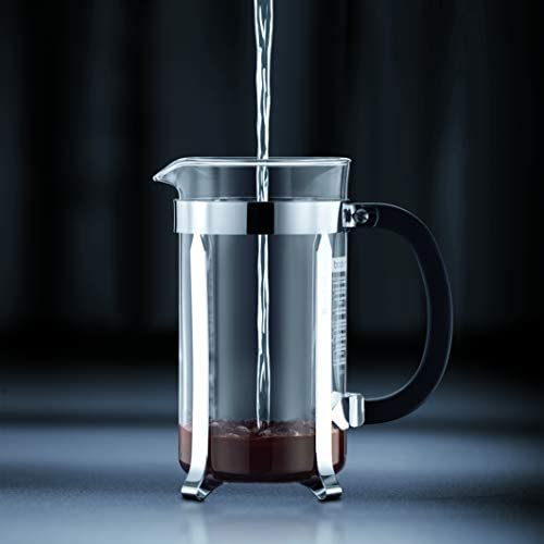 Bodum - 1908-01 - Java - Cafetière à Piston - 8 Tasses - 1.0 L - Noir