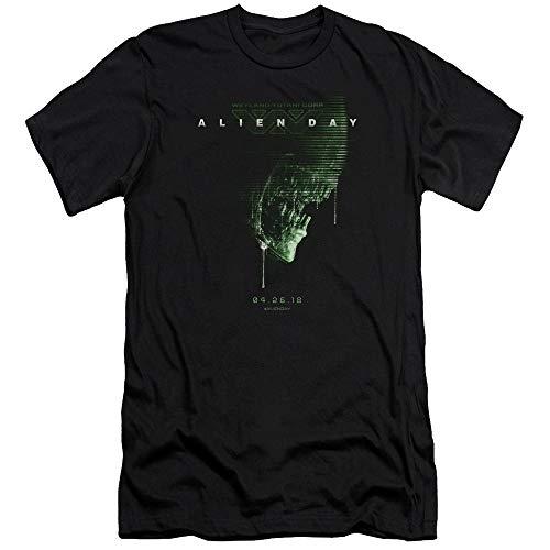 Homme Pour shirt Day À T Coupe Black 2018 Ajustée Aliens x0A8B5ww