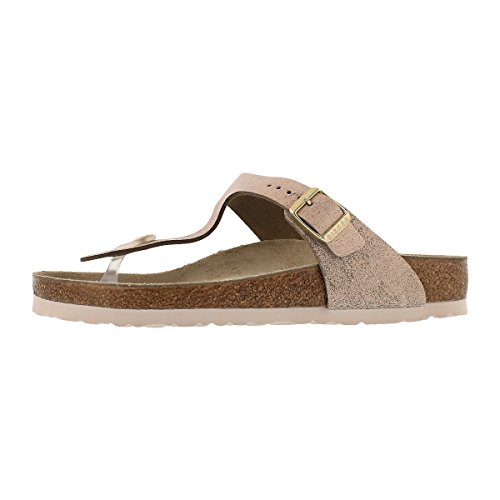 8b3d91fcd84d Galleon - Birkenstock Women s Gizeh Cork Footbed Thong Sandal Rose Gold 39  M EU