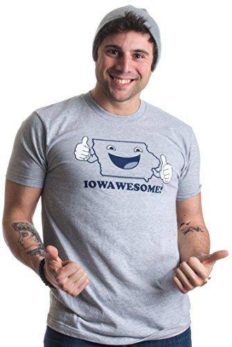 IOWAWESOME! | Funny Iowa Pride, Hawkeye State Humor Retro Style Unisex T-shirt