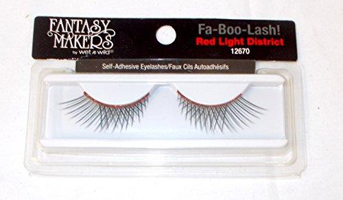 Black Red Glitter Long Lash Lashes Eyelashes Self Adhesive Halloween NIP