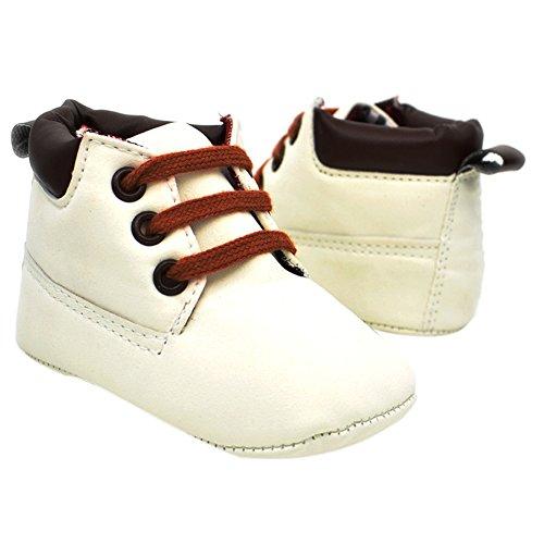 Etrack-Online Baby Sneakers - Zapatos primeros pasos de Otra Piel para niño blanco