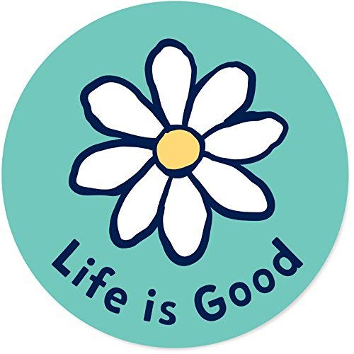Life is Good. Circle Sticker Daisy - Teal (Good Life's)