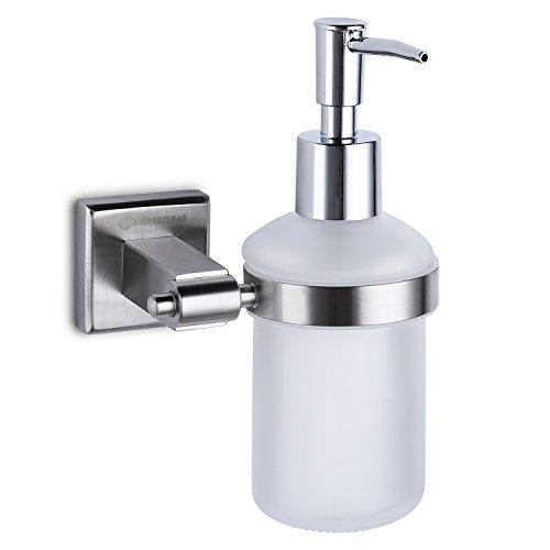 HOMEIDEAS 7oz Wall Mounted Kitchen Sink Soap Dispenser ABS Pump ...