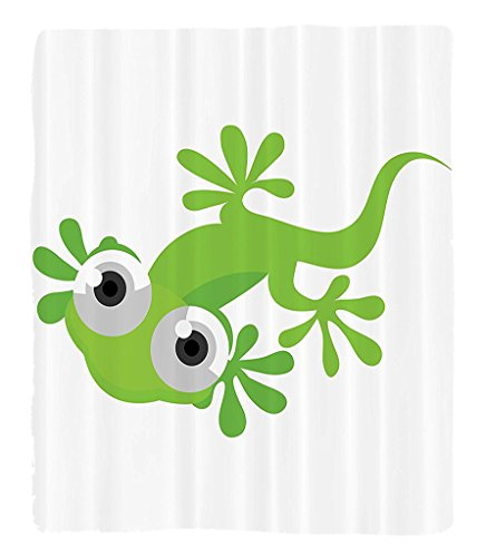 Chaoran 1 Fleece Blanket on Amazon Super Silky Soft All Season Super Plush Reptile Decor Collection Cute Lizard Looking at Us Creature Animal Primitive Nature Animation Reptile Design Fabric et by chaoran