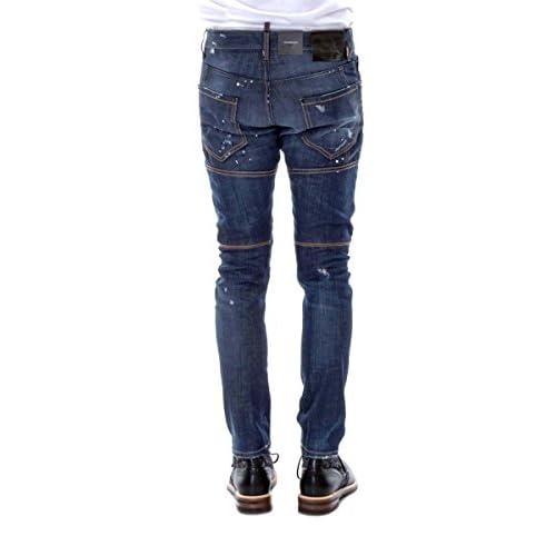 high-quality DSquared2 Tidy Biker S71LA0977 Jeans Dsquared D2 Tapered Leg  Slim Fit de2584d0835