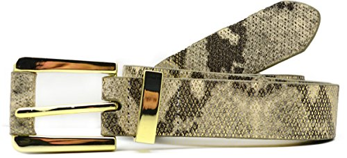 Champagne Snake (Style & Co. Women's Metallic Snake Print Belt Champagne Gold (X-Large))