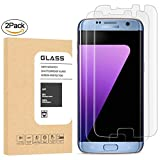 Galaxy S7 Edge Tempered Glass Screen Protector, TEIROO [Half Coverage] [9H Hardness] [Anti-Scratches] [Anti-Fingerprint] [Bubble-Free] Premium HD Screen Protector for Samsung Galaxy S7 Edge (2 Pack)