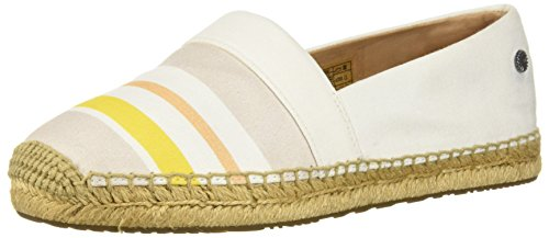 UGG Women's Reneda Stripe Loafer Flat, White