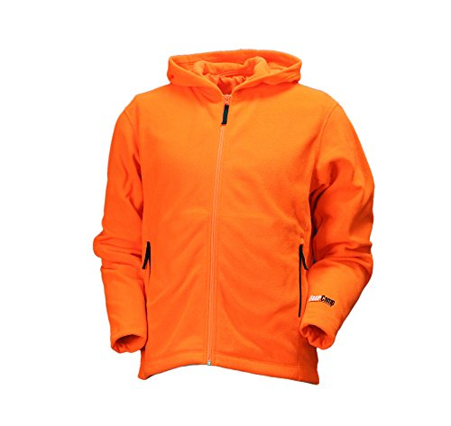 Gamehide Deer Camp Blaze Woodland Fleece Full Zip Hoodie, XX-Large, Orange ()