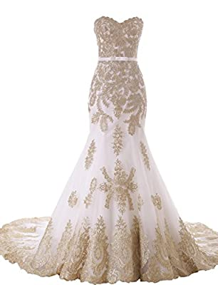 Erosebridal Lace Appliques Wedding Dress Bridal Gowns Mermaid Dress for Bride