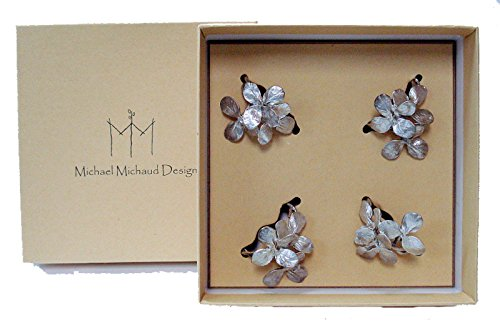 ''Clover'' Napkin Ring (Set of 4) by Michael Michaud for Silver Seasons Table Art by Silver Seasons Michael Machaud