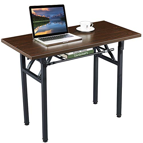 Computer Desk Folding Table No-Assembly Modern Desk for Small Spaces Study Writing Desk with Storage Shelf Desks for Home Office