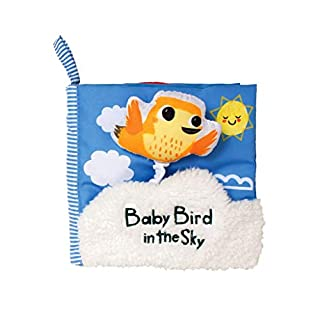 Manhattan Toy What's Outside Sky-Themed Soft Baby Activity Book with Squeaker