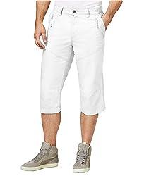 INC International Concepts Men's Wes Messenger Shorts (38, White)