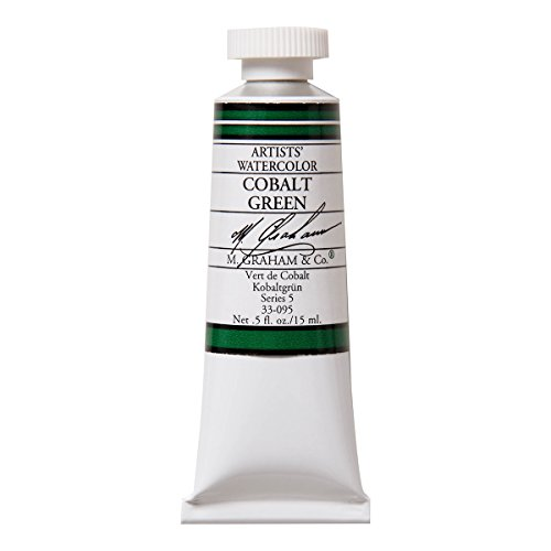 M. Graham 1/2-Ounce Tube Watercolor Paint, Cobalt Green by M. Graham & Co.