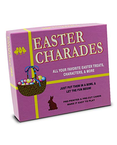 Easter Charades | The Original Easter Charades Game Perfect for Your Easter Party Games. Makes a Great Easter Basket Stuffer. Features Popular Easter Figures Such As The Easter Bunny and More!