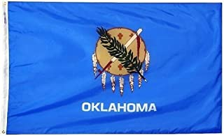 product image for All Star Flags 4x6' Oklahoma Nylon State Flag - All Weather, Durable, Outdoor Nylon Flag
