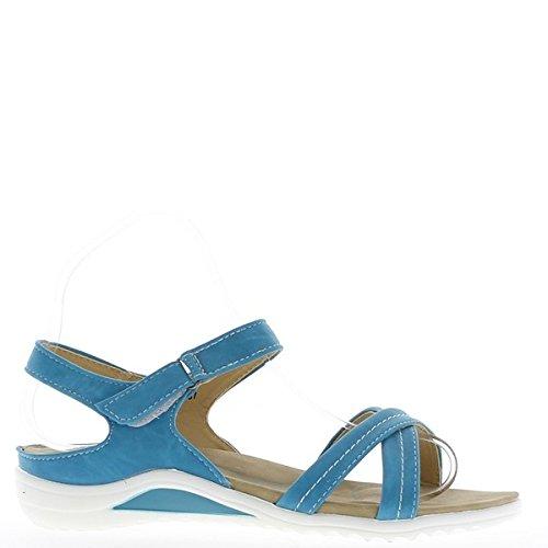 ChaussMoi - Zapatillas de sintético para mujer, color azul, talla 39