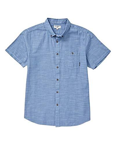 Billabong Men's All Day Short Sleeve Shirt Powder Blue Large