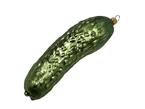 Cucumber Large Pickle Legend of The Christmas Pickle Food Polish Glass Christmas Tree Ornament