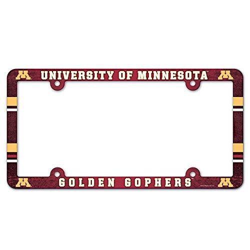 WinCraft NCAA University of Minnesota 96518012 LIC Full Color Plate Frame