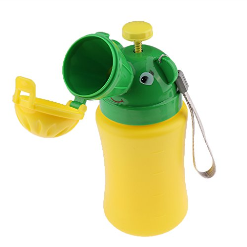 MagiDeal Portátiles para Bebés Uso Urinario Baño Emergencia Camping Coche Viaje de Niño Amarillo