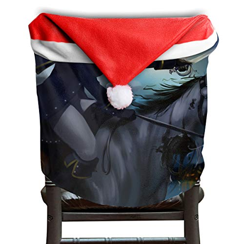 EDYE Horse Halloween Headless Horseman Animated Christmas Xmas Themed Dinning Seat Chair Cap Hat Covers Ornaments for Backers Slipcovers Wraps Coverings Decorations Protector Set Party -