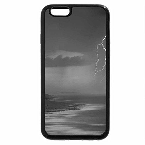 iPhone 6S Plus Case, iPhone 6 Plus Case (Black & White) - amazing lightning scape