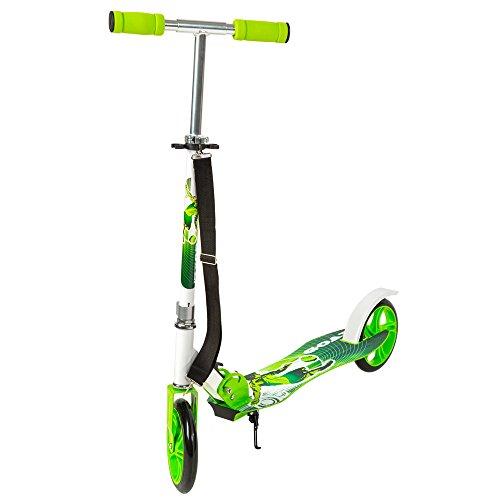 TecTake Patinete Monopatín Scooter para ciudad niños 205mm verde
