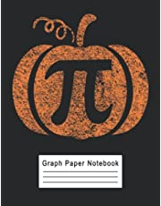 Pumpkin Pi Graph Paper Notebook: 4 Squares per Inch Quad Ruled Composition Notebook for Math and Science Students Large 8.5x11