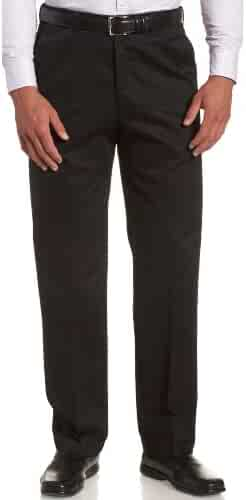 Haggar Men's Work To Weekend Hidden Expandable Waist No Iron Plain Front Pant
