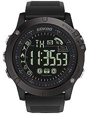 GOKOO Smartwatch Hombre Deporte Reloj Inteligente Hombre Fitness Tracker para Deportes y Aire Libre con Contadores de Calorías Cronómetro Notificación de Mensajes para Android y iOS