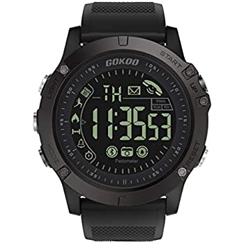 ... Outdoor Sports Smartwatch for Men with Pedometer, Calorie Counter, Distance, Stopwatch, Waterproof, Notifications Compatible with Android and iOS Phones