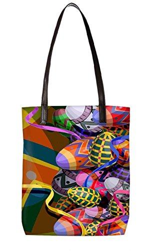 Bolsa Snoogg multicolor Y Ltr totebag De Multicolor Tela 2474 Playa bl Rqwdqrgx