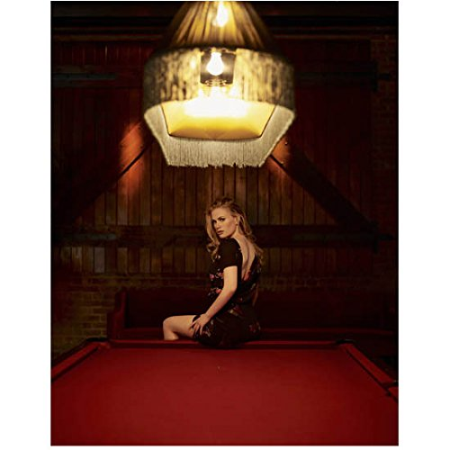 - Anna Paquin Seated on Pool Table Under Light 8 x 10 Inch Photo