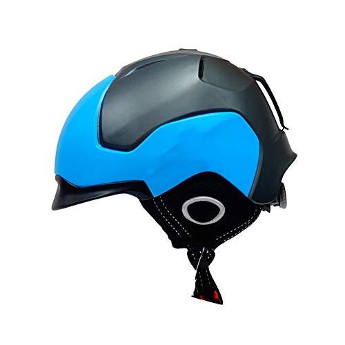 J.SPG Casco De Esquí (Ski Helmet) Profesional Unisex Los Niños A Prueba De Viento para Adultos con Forro Casco Deportivo...