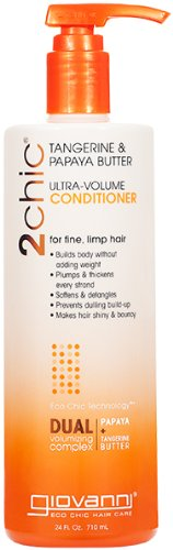 (Giovanni 2chic Collection Ultra-Volume Conditioner 8.5 fl. oz. Tangerine & Papaya Butter Ultra-Volume Hair Care 8.5 fl. oz, - Single Item)