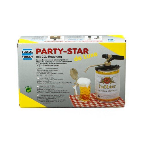 'Fizzy Dispensing Party Star De Luxe with CO2 Control – ' Beer pump beer Device for 5L Kegs