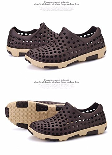 Il nuovo estate Uomini scarpa Buco scarpa mode Spiaggia scarpa Taglia larga traspirante sandali Roma Tempo libero scarpa Uomini ,Marrone ,US=8,UK=7.5,EU=41 1/3,CN=42