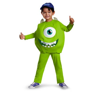 Mike Deluxe Toddler Costume Size: 3 - 4T - Mike Wazowski Baby Halloween Costume