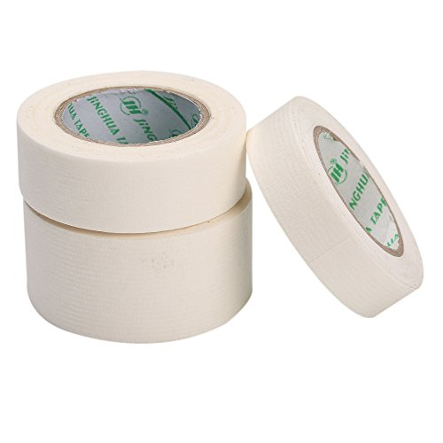 MEEDEN Painters Masking Tape Strong White Masking Tape 3 Rolls Assorted Sizes Tape for Art Watercolor Painting Color Coding Labeling Bundling Mounting