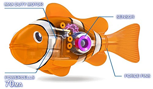 New Zuru Robo Alive Little Fish Collection Real-Life Robotic Pets - Water Activated LITTLE CLOWNFISH - Swims like a Real Fish an by Zuru (Image #2)