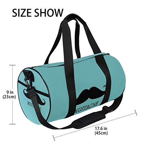 OuLian Duffel Bag Blue Mustache Women Garment Gym Tote Bag Best Sports Bag for Boys