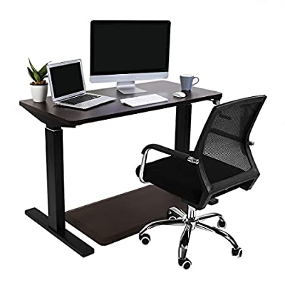 "Flexispot 55"" Crank Height Adjustable Sit Stand Desk with Anti-Fatigue standing desk mat"