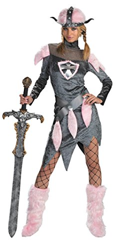Disguise Womens Viking Barbarian Babe Theme Party Fancy Halloween Costume, One Size -