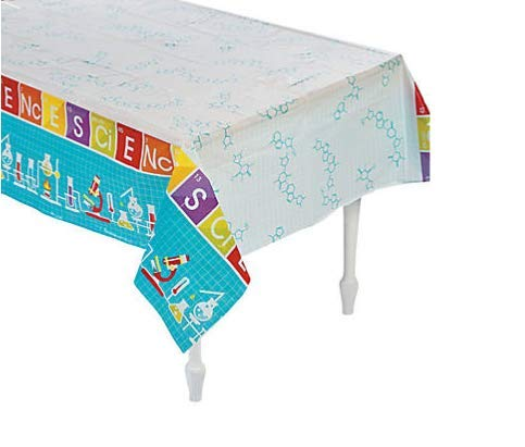 2 Piece Science Party Plastic Long Rectangle 54 x 108 in Tablecloth -