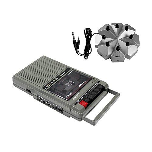 Hamilton Buhl Classroom Cassette Player, 8 Station, 1 Watt by Hamilton Buhl