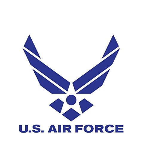 (CRDesign USAF #2 US Air Force Wings Decal Sticker for Car, Truck, Notebook, SUV Bumper Window Vinyl (Blue))